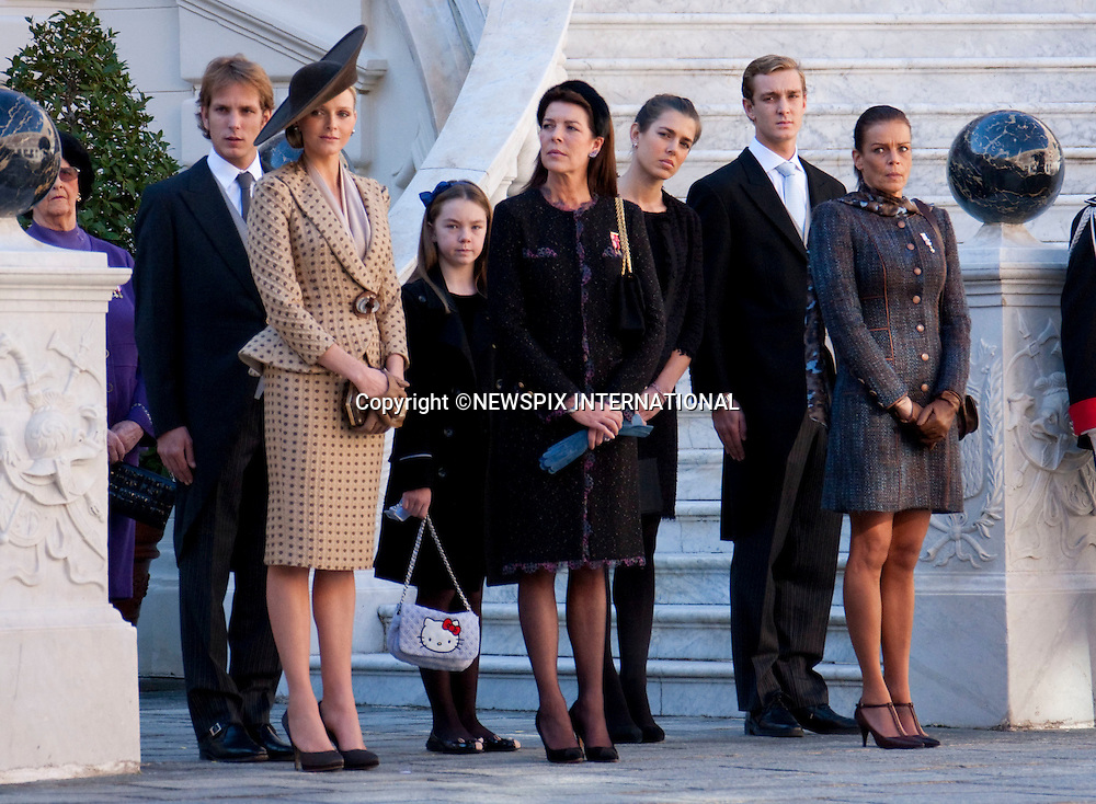 """Monaco Royal Family.MONACO NATIONAL DAY 2010 (Fête Nationale Monégasque 2010).The Royal Family attend the Award Ceremony at the Prince's Palace as part of Monaco's National Day celebrations. Monaco_19/11/2010..Mandatory Photo Credit: ©Dias/Newspix International..**ALL FEES PAYABLE TO: """"NEWSPIX INTERNATIONAL""""**..PHOTO CREDIT MANDATORY!!: NEWSPIX INTERNATIONAL(Failure to credit will incur a surcharge of 100% of reproduction fees)..IMMEDIATE CONFIRMATION OF USAGE REQUIRED:.Newspix International, 31 Chinnery Hill, Bishop's Stortford, ENGLAND CM23 3PS.Tel:+441279 324672  ; Fax: +441279656877.Mobile:  0777568 1153.e-mail: info@newspixinternational.co.uk"""