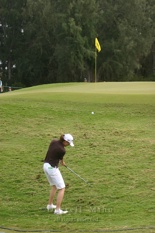 February 18, 2006; Kahuku, HI - Stacy Prammanasudh chips on to the green during the final round of the LPGA SBS Open at Turtle Bay Resort...Mandatory photo credit: Darrell Miho.© Darrell Miho