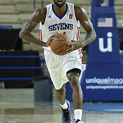Delaware 87ers Forward Malcolm Lee (14) attempts to pass the ball in the first half of a NBA D-league regular season basketball game between the Delaware 87ers and the Rio Grande Valley Vipers (Houston Rockets) Saturday, Dec. 27, 2014 at The Bob Carpenter Sports Convocation Center in Newark, DEL