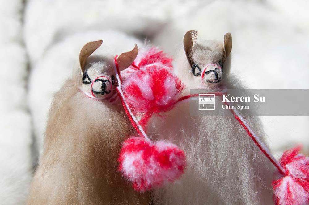 Toys of alpaca, Peru