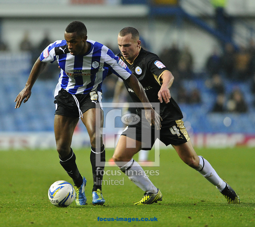 Picture by Richard Land/Focus Images Ltd +44 7713 507003.24/11/2012.Jose Semedo of Sheffield Wednesday and Daniel Drinkwater of Leicester City during the npower Championship match at Hillsborough, Sheffield.