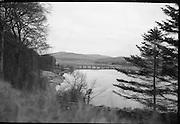 Views of Blessington Lake, Co. Wicklow.21/01/1964