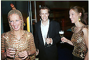 Laure Boulay de la Meurthe, Tom Parker-Bowles and Mr. and Mrs. Andy Wong Chinese Year of the Dragon. Millenium Dome. 29/1/2000.<br />