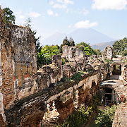 Ruins of a church destroyed by an earthquake in Antigua, Guatemala.