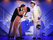 April 7, 2016, East Haddam, CT<br /> Mara Lavitt -- Special to the Hartford Courant<br /> The run-through of  the classic Cole Porter musical &quot;Anything Goes&quot; being performed at Goodspeed Musicals in East Haddam. David Harris as Billy Crocker, Rashidra Scott as Reno Sweeney with Patrick Richwood at the Purser, right.