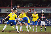 Declan Gallagher  heads home Dundee's 5th - Dundee v Greenock Morton, William Hill Scottish Cup 5th Round at Dens Park .. - © David Young - www.davidyoungphoto.co.uk - email: davidyoungphoto@gmail.com