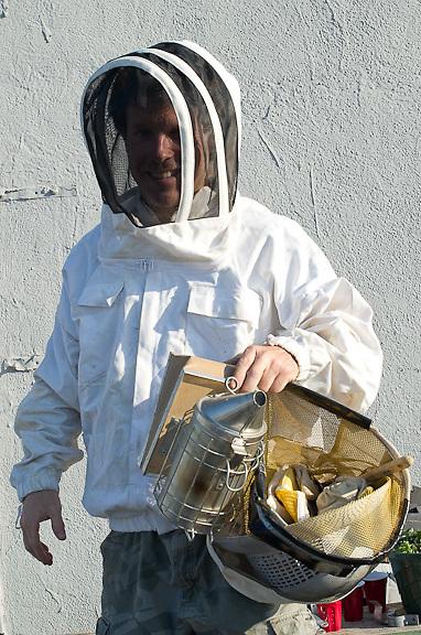 Chase Emmons, Bee Keeper, Brooklyn Grange Brooklyn Grange