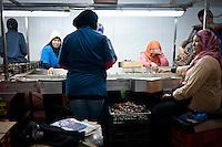 Date processing, Fresh Date Gates, Jericho, Palestine. 2012.