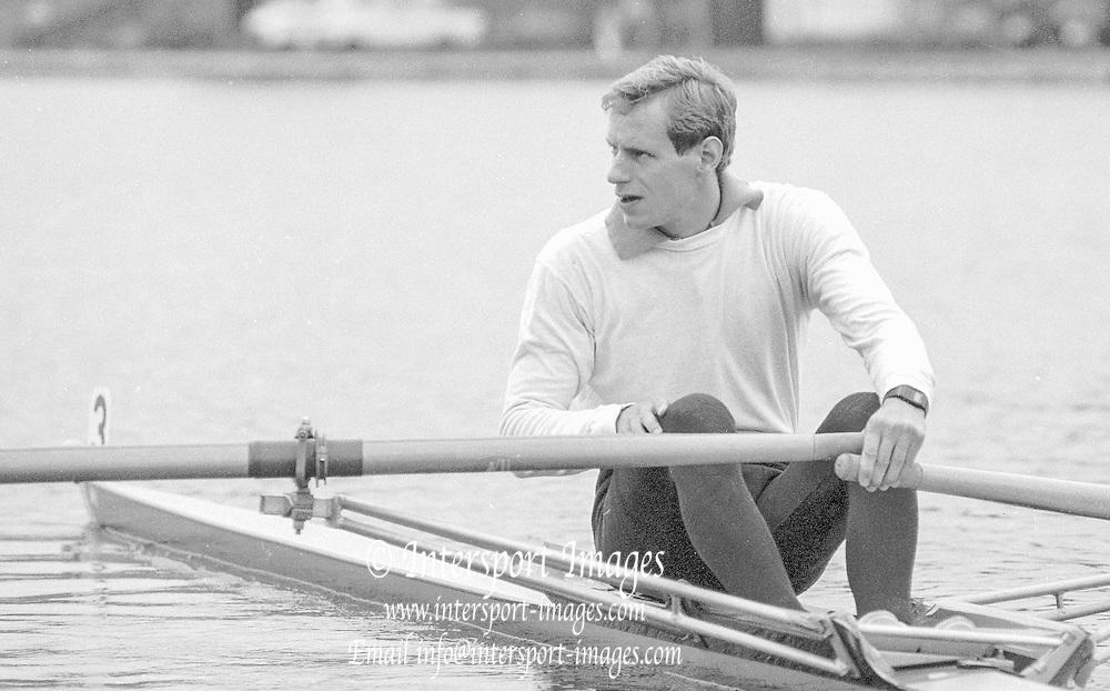 Nottingham. United Kingdom. <br /> GBR LM1X. Carl SMITH. [NCRA]<br /> Nottingham International Regatta, National Water Sport Centre, Holme Pierrepont. England<br /> <br /> 31.05.1986 to 01.06.1986<br /> <br /> [Mandatory Credit: Peter SPURRIER/Intersport images] 1986 Nottingham International Regatta, Nottingham. UK