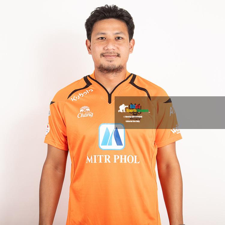 THAILAND - JUNE 24: Praweenwat Boonyong #4 of Ratchaburi Mitr Phol FC on June 24, 2019.<br /> .<br /> .<br /> .<br /> (Photo by: Naratip Golf Srisupab/SEALs Sports Images/MB Media Solutions)