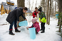 Maple Sugaring at Gilford Elementary School.  ©Karen Bobotas Photographer