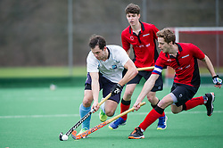 Southgate v West Herts - Men's Hockey League - East Conference, Trent Park, London, UK on 19 February 2017. Photo: Simon Parker