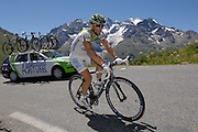 France - Wednesday, Jul 23 2008: Jimmy Caspar, Agritubel, ascends the Col du Galibier during Stage 17 of the 2008 Tour de France cycle race. (Photo by Peter Horrell / http://www.peterhorrell.com)