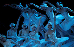 "Ballerinas of the Bolshoi Theatre and the State Classic Ballet Theatre of Russia dance during a performance of Tchaikovsky's ""Swan Lake"" at the Mediterranean Conference Centre in Valletta, April 19, 2007.  The ballet runs until April 23. .REUTERS/Darrin Zammit Lupi (MALTA).MALTA OUT"
