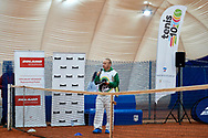 Warsaw, Poland - 2017 December 10: Trainer Robert Gladyszak speaks while Tenis 10 Conference of Polish Tennis Association at Orzel Tennis Club on December 10, 2017 in Warsaw, Poland.<br /> <br /> Mandatory credit:<br /> Photo by © Adam Nurkiewicz / Mediasport<br /> <br /> Adam Nurkiewicz declares that he has no rights to the image of people at the photographs of his authorship.<br /> <br /> Picture also available in RAW (NEF) or TIFF format on special request.<br /> <br /> Any editorial, commercial or promotional use requires written permission from the author of image.
