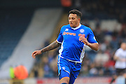 goalscorer Nathaniel Mendez-Laing during the Sky Bet League 1 match between Rochdale and Bury at Spotland, Rochdale, England on 12 March 2016. Photo by Daniel Youngs.