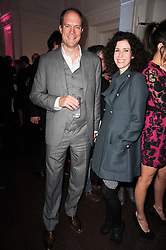 HARRY BLAIN and MOLLIE DENT-BROCKLEHURST at an exhibition and charity auction entitled Shoebox Art in aid of Kids Company held at the Haunch of Venison, Burlington Gardens, London on 18th March 2010.