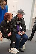DONALD WOODMAN; JUDY CHICAGO, Opening of Frieze Masters. Regent's Park. London. 15 October 2013.
