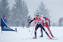 Johannes Duerr of Austria during man 9 km pursue race at the cross country Tour de Ski 2014 of the FIS cross country World cup competition on January 5th, 2014 in Alpe Cermis, Val di Fiemme, Italy. (Photo by Urban Urbanc / Sportida)