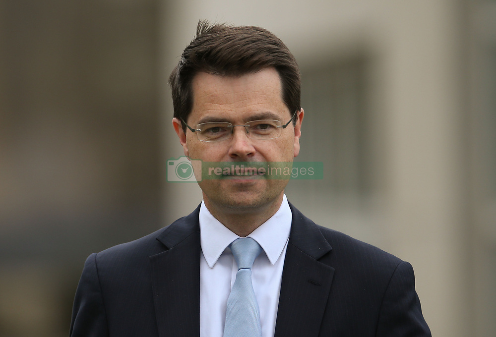 Northern Ireland Secretary James Brokenshire speaks to the media outside Stormont Castle as round-table all-party talks aimed at resurrecting political powersharing continues.