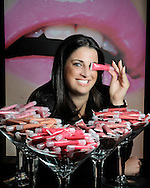 Shira Kastan has launched a new lip gloss company, called Robbie Lip Gloss. Here she displays her products at her home office in Miami on Tuesday, December 7, 2010.