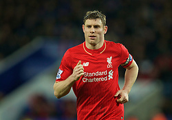 LEICESTER, ENGLAND - Monday, February 1, 2016: Liverpool's James Milner in action against Leicester City during the Premier League match at Filbert Way. (Pic by David Rawcliffe/Propaganda)