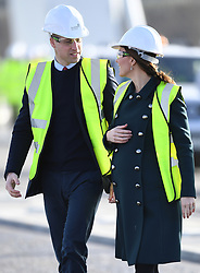 The Duke and Duchess of Cambridge visit the Northern Spire bridge in Sunderland, UK, on the 21st February 2018. 20 Feb 2018 Pictured: The Duke and Duchess of Cambridge visit the Northern Spire bridge in Sunderland, UK, on the 21st February 2018. Photo credit: James Whatling / MEGA TheMegaAgency.com +1 888 505 6342