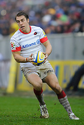 Saracens Full Back (#15) Chris Wyles in action during the second half of the match - Photo mandatory by-line: Rogan Thomson/JMP - Tel: Mobile: 07966 386802 22/12/2012 - SPORT - RUGBY - The Recreation Ground - Bath. Bath Rugby v Saracens - Aviva Premiership.