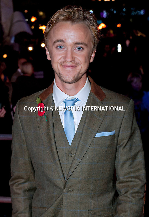 "TOM FELTON.HARRY POTTER AND THE DEATHLY HALLOWS PART 1 _ .Stars from the seventh film in the series gathered for the World Premiere at .the Odeon Leicester Square, London_England_11/10/2010..Mandatory Photo Credit: ©Dias/Newspix International..**ALL FEES PAYABLE TO: ""NEWSPIX INTERNATIONAL""**..PHOTO CREDIT MANDATORY!!: NEWSPIX INTERNATIONAL(Failure to credit will incur a surcharge of 100% of reproduction fees)..IMMEDIATE CONFIRMATION OF USAGE REQUIRED:.Newspix International, 31 Chinnery Hill, Bishop's Stortford, ENGLAND CM23 3PS.Tel:+441279 324672  ; Fax: +441279656877.Mobile:  0777568 1153.e-mail: info@newspixinternational.co.uk"