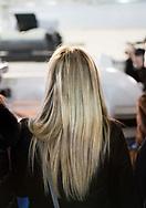 Napoli, Italia - Giorgia Meloni, leader e candidata premier per il partito Fratelli d'Italia durante la visita ai saloni del Nauticsud a Napoli.<br /> Ph. Roberto Salomone