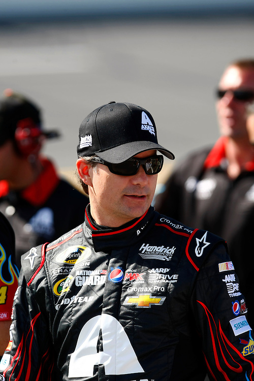 Jul 5, 2013; Daytona Beach, FL, USA; NASCAR Sprint Cup Series driver Jeff Gordon during qualifying for the Coke Zero 400 at Daytona International Speedway. Mandatory Credit: Douglas Jones-DDJ Sports Imaging