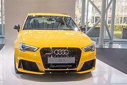 10.03.2015, Audi Forum, Ingolstadt, GER, AUDI AG Jahrespressekonferenz, im Bild Ausstellung Audi RS 3 // during AUDI AG Annual Press Conference at the Audi Forum in Ingolstadt, Germany on 2015/03/10. EXPA Pictures © 2015, PhotoCredit: EXPA/ Eibner-Pressefoto/ Strisch<br /> <br /> *****ATTENTION - OUT of GER*****