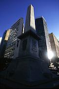 Belo Horizonte_MG, Brasil...Obelisco da Praca Sete de Setembro no centro de Belo Horizonte, Minas Gerais...Obelisk in the Sete de Setembro square in Belo Horizonte downtown, Minas Gerais...Foto: LEO DRUMOND / NITRO