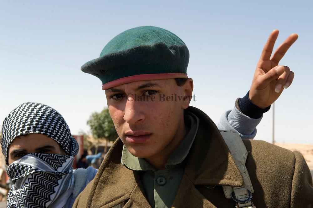 Fighters in Ras Lanouf, Libya