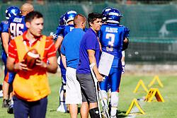 Rok Stamcar, head coach of Silverhawks during american football match between Ljubljana Silverhawks and Moedling Rangers on July 16, 2017 in Nogometni stadion, Ivancna Gorica, Slovenia. Photo by Matic Klansek Velej / Sportida