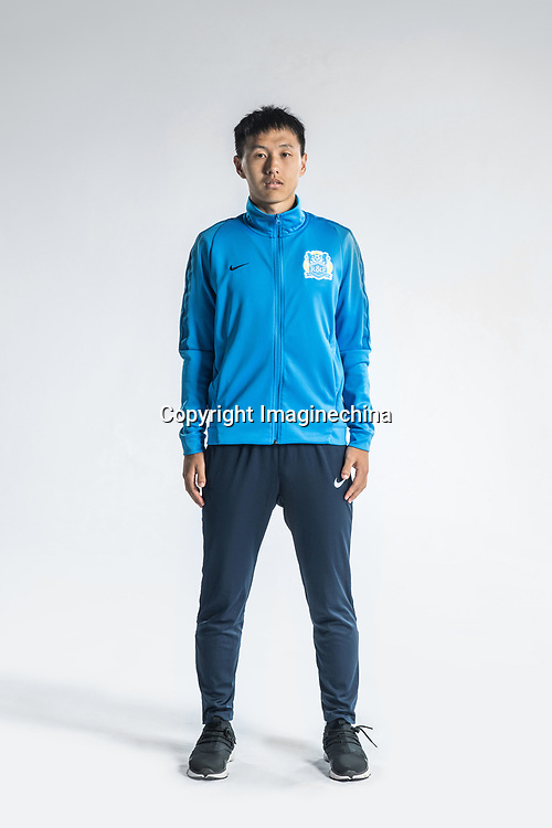 **EXCLUSIVE**Portrait of Chinese soccer player Chang Feiya of Guangzhou R&F F.C. for the 2018 Chinese Football Association Super League, in Guangzhou city, south China's Guangdong province, 23 February 2018.
