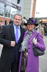 HUGH BONNEVILLE and his wife LULU at the Hennessy Gold Cup at Newbury Racecourse, Berkshire on 26th November 2011.