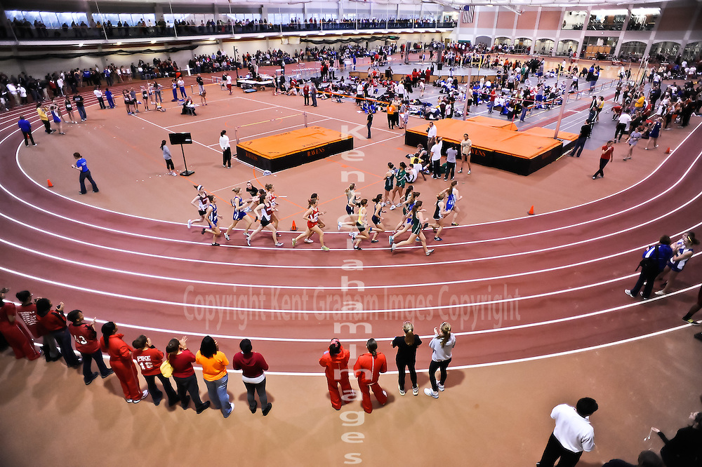 A view from above of the track at Anderson University