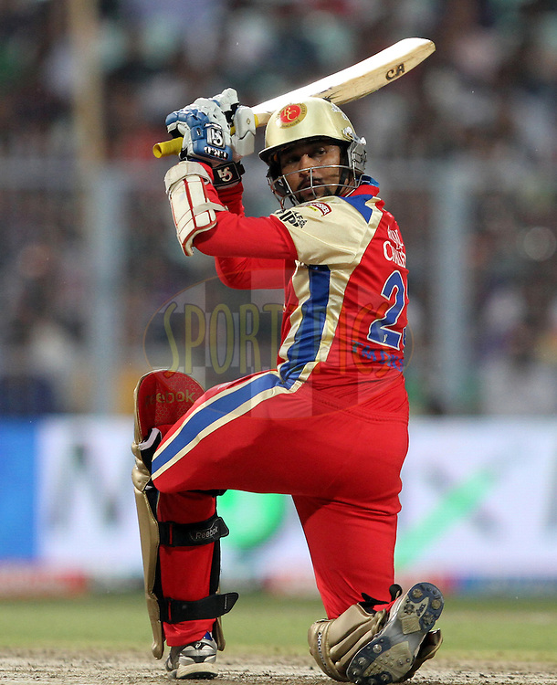 T Dilshan of RCB in action during match 24 of the Indian Premier League ( IPL ) between the Kolkata Knight Riders and the Royal Challengers Bangalore held at Eden Gardens Cricket Stadium in Kolkata, India on the 22nd April 2011..Photo by Prashant Bhoot/BCCI/SPORTZPICS