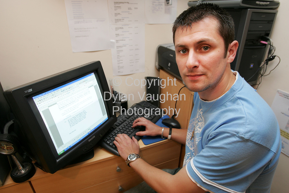 18/11/2005.Damien Dawson of Parental Equality pictured at his home in Carlow..Picture Dylan Vaughan.