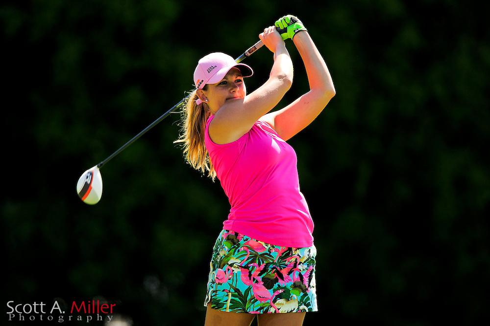 Sara Brown during the final round of the Symetra Tour's Guardian Retirement Championship at Sara Bay in Sarasota, Florida April 28, 2013. ..©2013 Scott A. Miller
