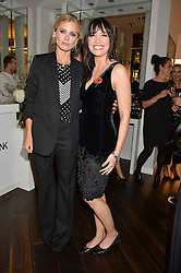 Left to right, LAURA BAILEY and DAISY LOWE at the launch of the Space NK Global Flagship store at 285-287 Regent Street, London on 10th November 2016.