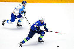 Darren Deitz of Kazakhstan and Bostjan Golicic of Slovenia during ice hockey match between Slovenia and Kazakhstan at IIHF World Championship DIV. I Group A Kazakhstan 2019, on April 29, 2019 in Barys Arena, Nur-Sultan, Kazakhstan. Photo by Matic Klansek Velej / Sportida