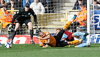 Photo: Steve Bond/Richard Lane Photography. Wolverhampton Wanderers v Aston Villa. Barclays Premiership 2009/10. 24/10/2009. Michael Kightly (L) is fouled by Steve Sidwell (R) and a penalty is given