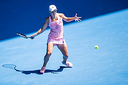 January 20, 2019 - Melbourne, VIC, U.S. - MELBOURNE, AUSTRALIA - JANUARY 20 : Ashleigh Barty of ÊAustralia returns the ball during day 7 of the Australian Open on January 20 2019, at Melbourne Park in Melbourne, Australia.(Photo by Jason Heidrich/Icon Sportswire) (Credit Image: © Jason Heidrich/Icon SMI via ZUMA Press)