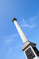 Nelson's Column in Trafalgar Square London