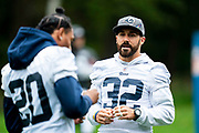 LA Rams Defensive back Eric Weddle (32) during the training session for Los Angeles Rams at the Los Angeles Memorial Coliseum, Los Angeles, USA on 25 October 2019.