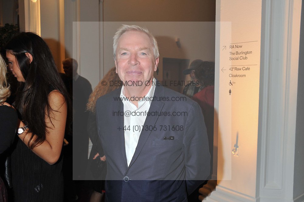 Architect SIR DAVID CHIPPERFIELD at a party to celebrate the launch of the new gallery Pace at 6 Burlington Gardens, London on 3rd October 2012.