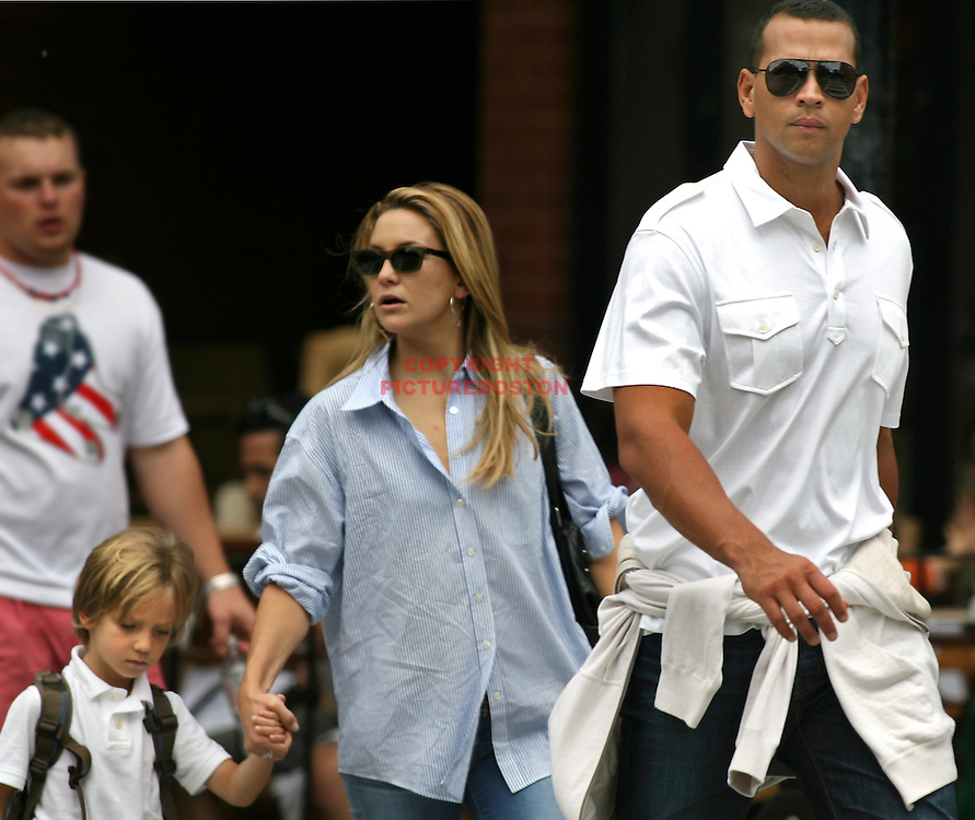 (08/23/09-Boston,MA) Alex Rodriguez and Kate Hudson took a walk down Boston's toney Newbury Street with Kate's son Ryder in tow. photo by Mark Garfinkel