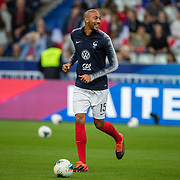 PARIS, FRANCE - September 10:  Steven N'Zonzi #15 of France during team warm ups before the France V Andorra, UEFA European Championship 2020 Qualifying match at Stade de France on September 10th 2019 in Paris, France (Photo by Tim Clayton/Corbis via Getty Images)